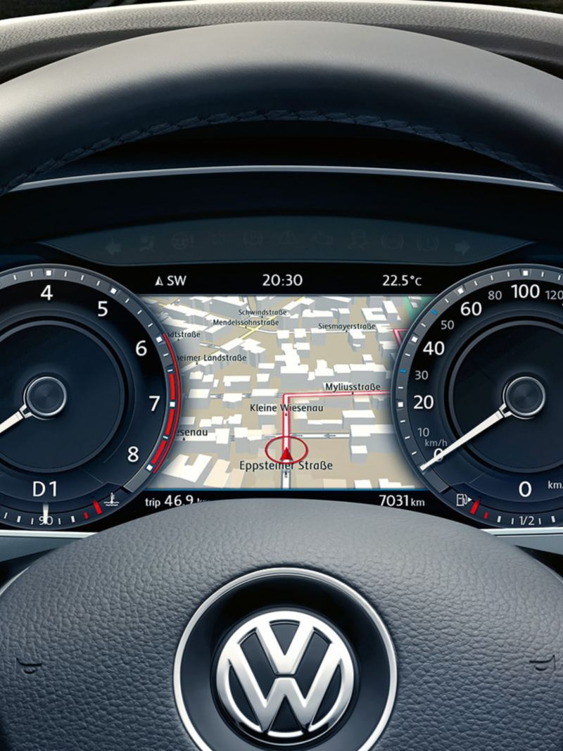 The active info display featuring navigation in the Volkswagen Tiguan