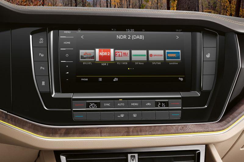 Rádio Discover Pro do VW Touareg