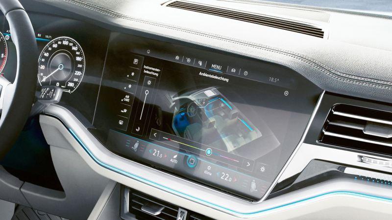 Technische Daten auf dem Display des Innovision Cockpits