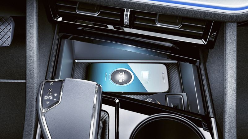 Inductive charging function in the Touareg