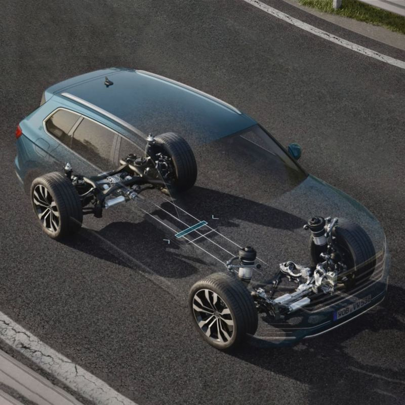 Transparent Touareg with roll stabilization