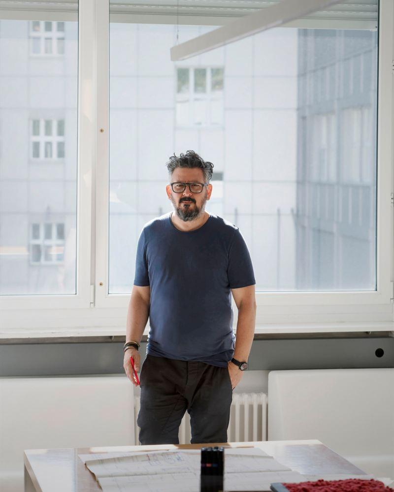 Zurich interior designer and designer Nader A. Taghavi at the office
