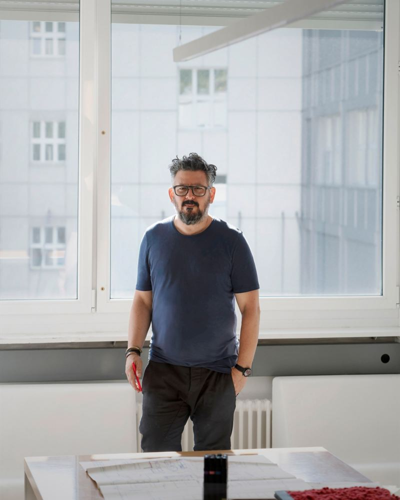 Zurich interior designer and designer Nader A. Taghavi at the office