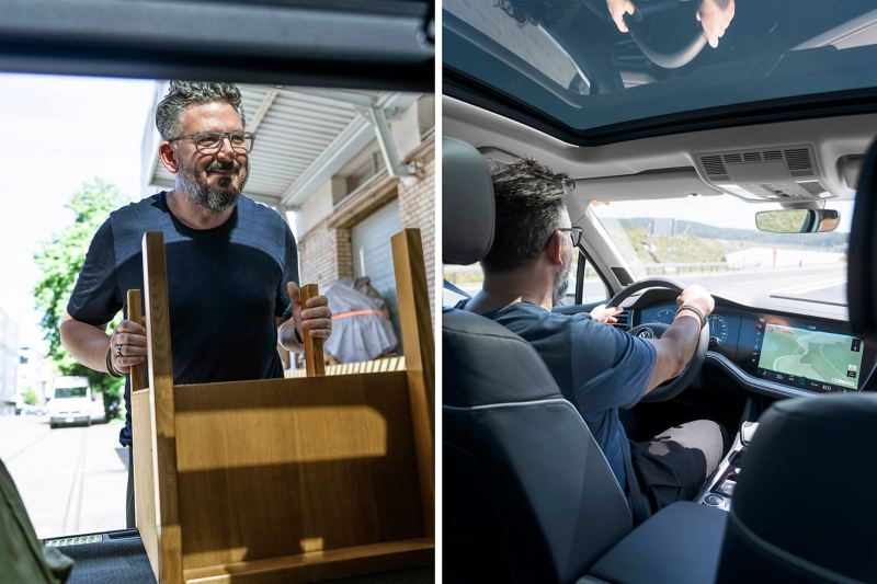 Zurich interior architect and designer Nader A. Taghavi at the Touareg