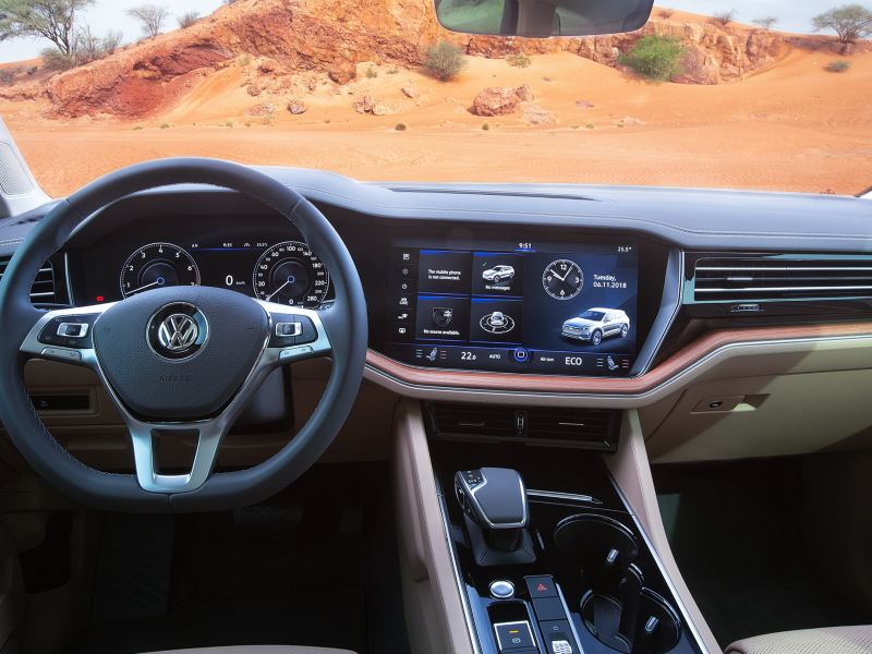 Touareg cockpit overview