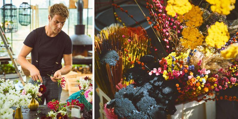 Alexander Posthuma beim Kreieren eines Bouquets