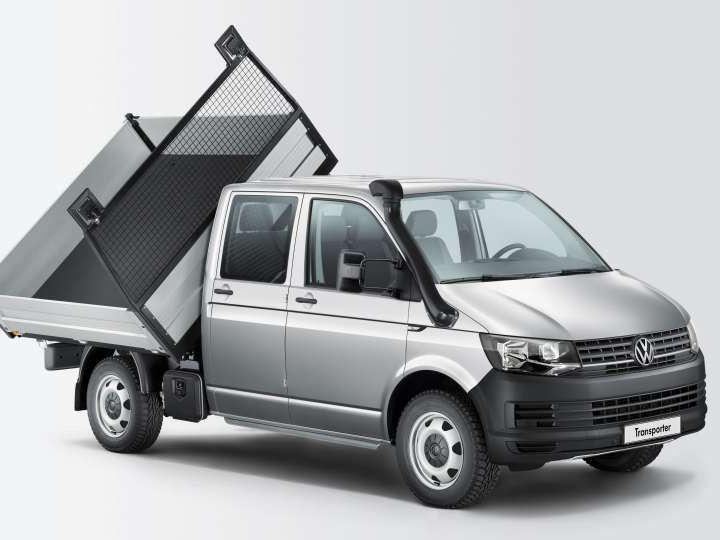 Carrinha comercial Transporter de caixa móvel.