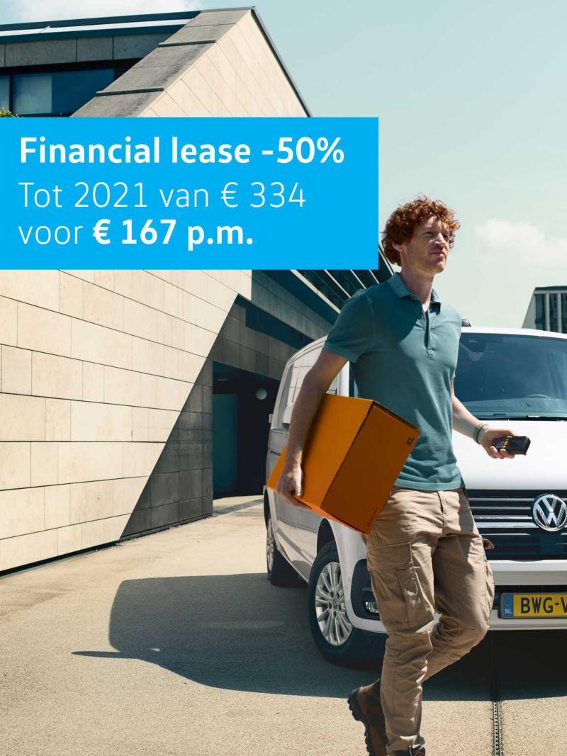 50% korting op Financial lease Dubbele cabine