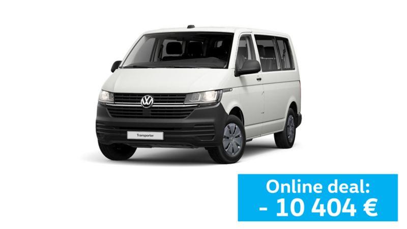 Carrinha Volkswagen Transporter branca