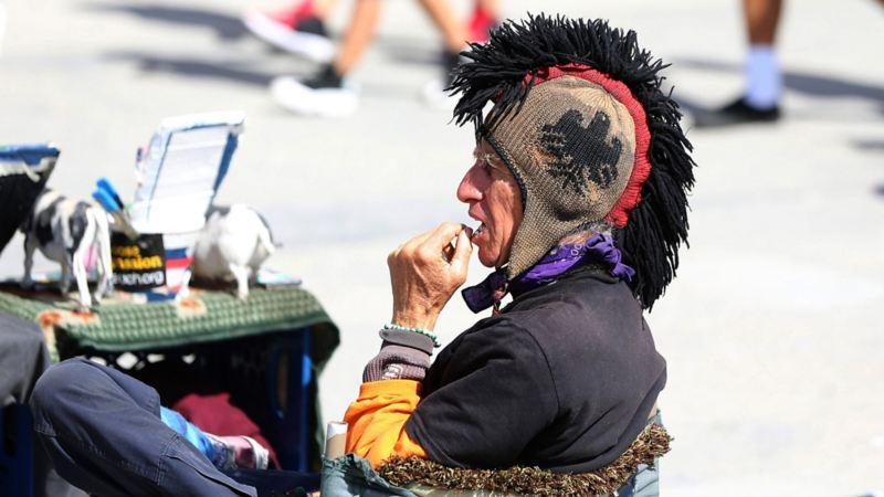 Punkare (?) på Venice Beach