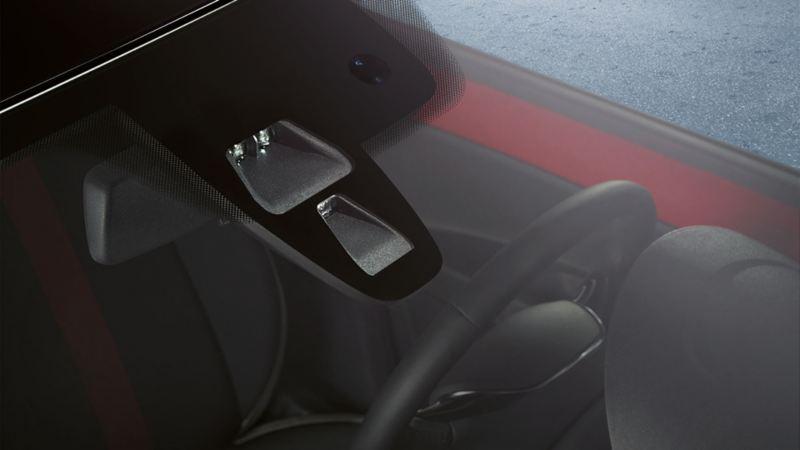 Darstellung des Regensensors in der Frontscheibe des VW Up!'s