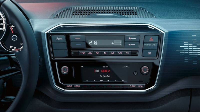 Image of the air conditioning system in a VW Up!