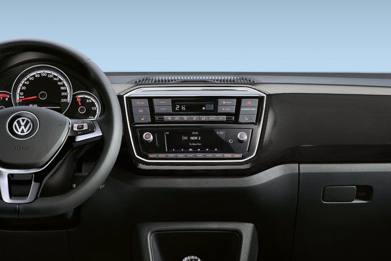 Visualizzazione del climatizzatore di una VW up!