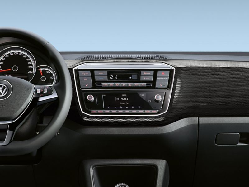 VW up! dash pad «black cube»