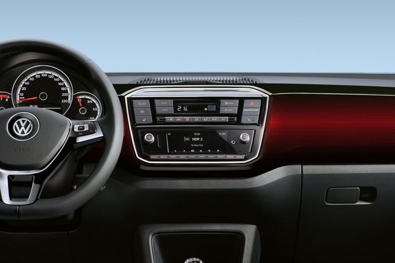 "VW up! dash pad ""pixels red"""