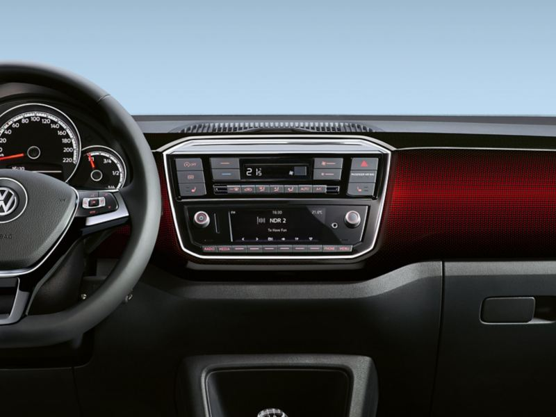 VW up! dash pad «pixels red»