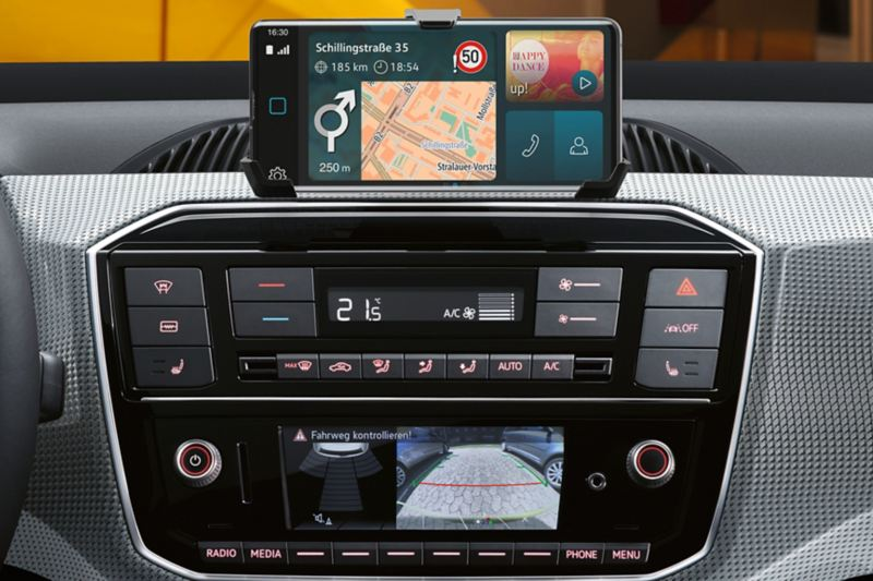 maps + more dock im e-up! mit Navigation im Display