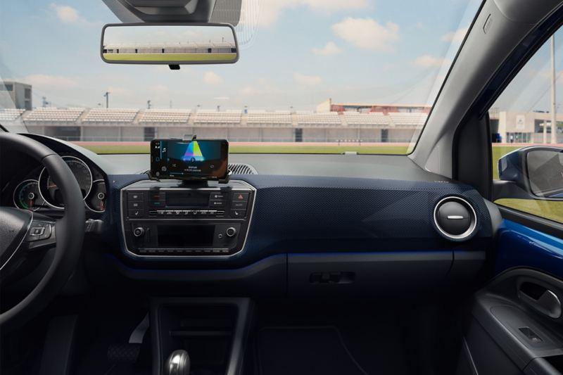 Innenansicht eines VW e-up! UNITED von Beifahrersicht