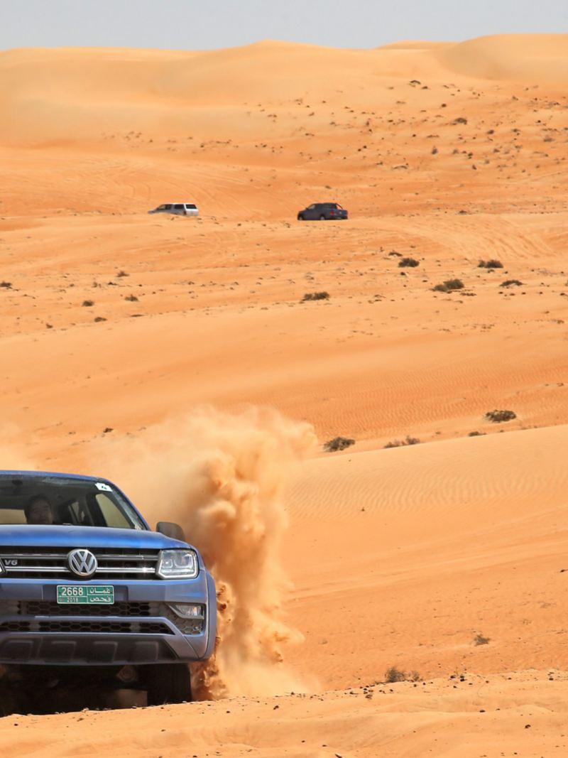 Uppför sanddyn med Amarok V6