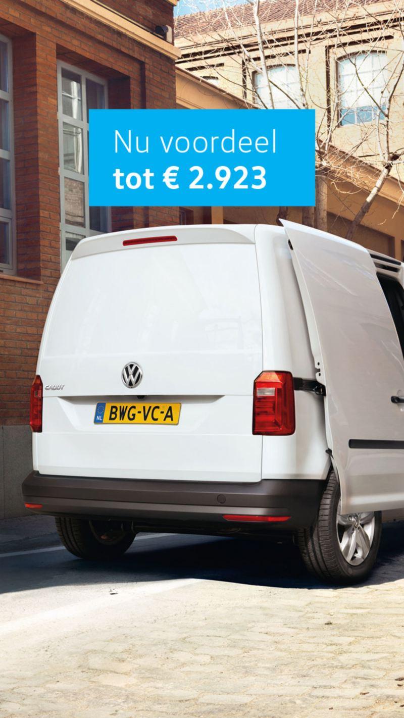 volkswagen Caddy voordeel tot 2923 euro