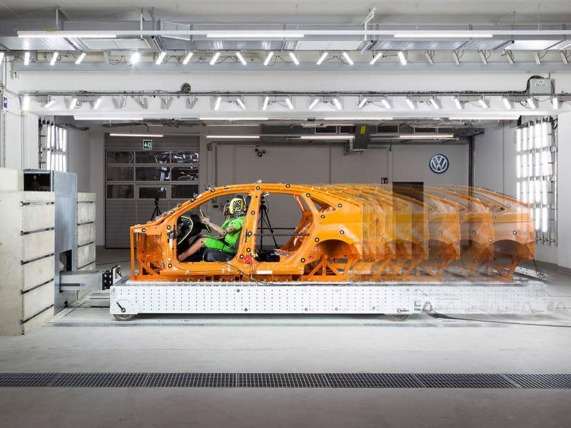 Schlittenanlage für Crashversuche am Standort Wolfsburg