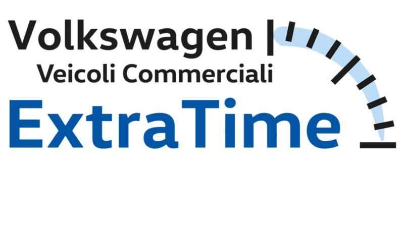 Logo di Extra Time, la garanzia di Volkswagen Veicoli Commerciali.