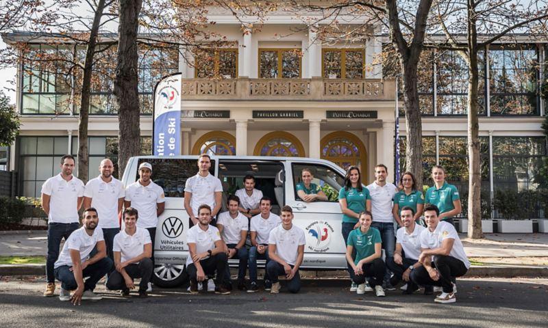 Volkswagen Véhicules Utilitaires : transporteur officiel des Équipes de France de Ski Nordique.