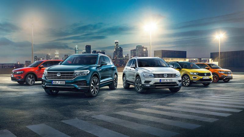 VW SUVs in einer Reihe