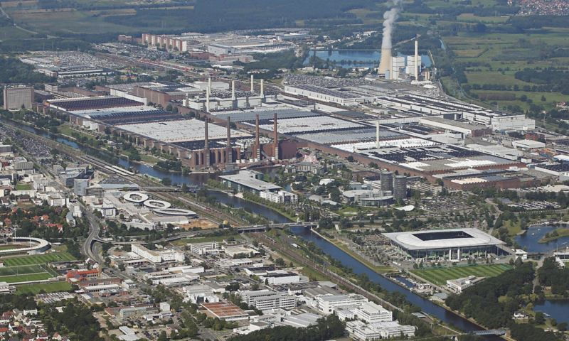 Luftaufnahme vom Werk Wolfsburg
