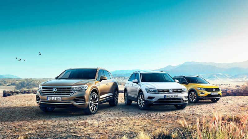 SUV Range mit VW Touareg, VW Tiguan, VW T-Roc