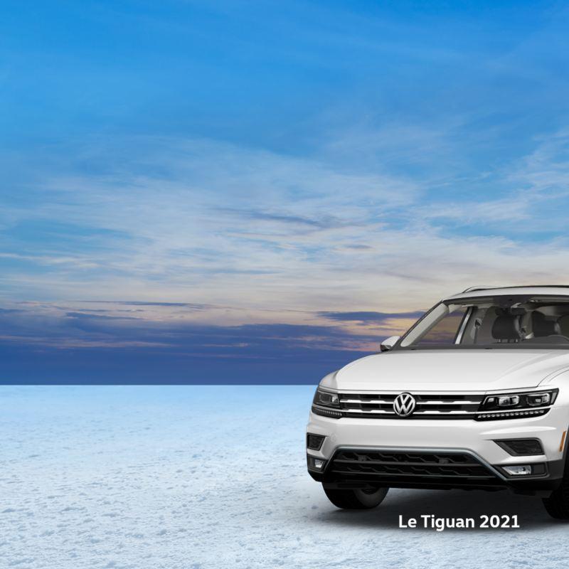 Des voitures et VUS Volkswagen dans la neige