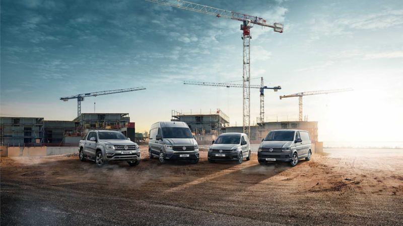 vw Volkswagen bilmodeller Crafter stor kassebil el varebil e-Crafter Amarok pickup Caddy liten 3-seter Transporter