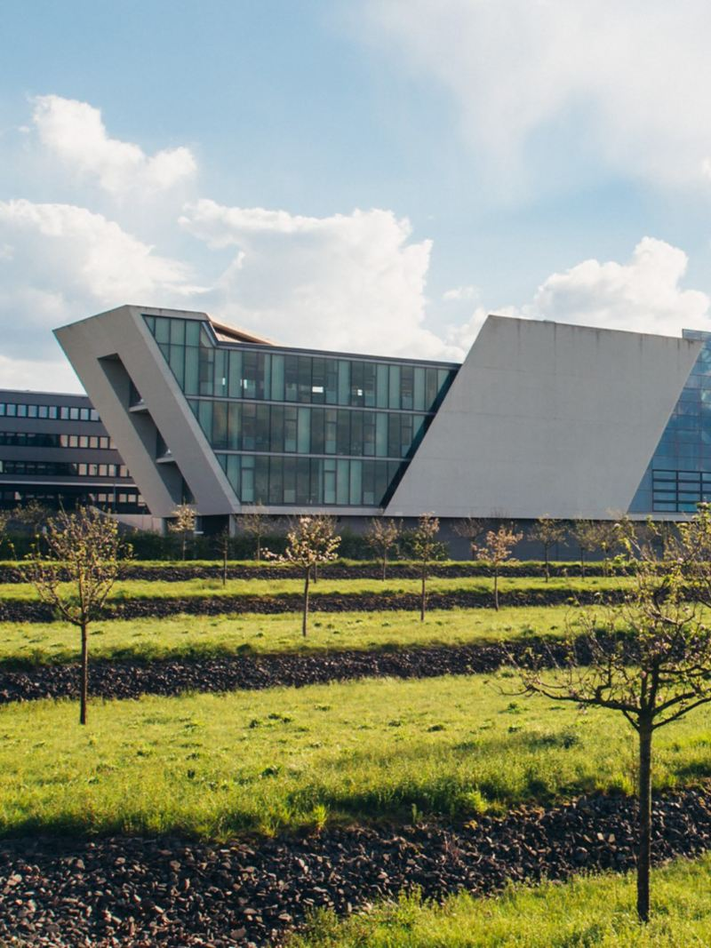 Exterior shot of the Mobile Life Campus in Wolfsburg