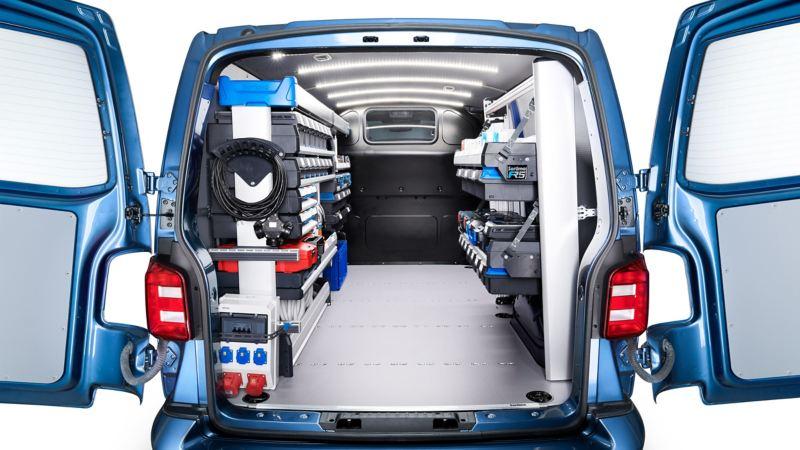 vw Volkswagen bilinnredning varebilinnredning Würth Sortimo Smartfloor varebil Transporter Caddy Amarok Crafter kassebil vertikaldelt