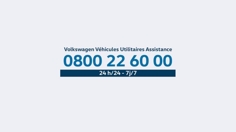 Volkswagen Véhicules Utilitaires Assistance numéro téléphone 24/24 /j/7