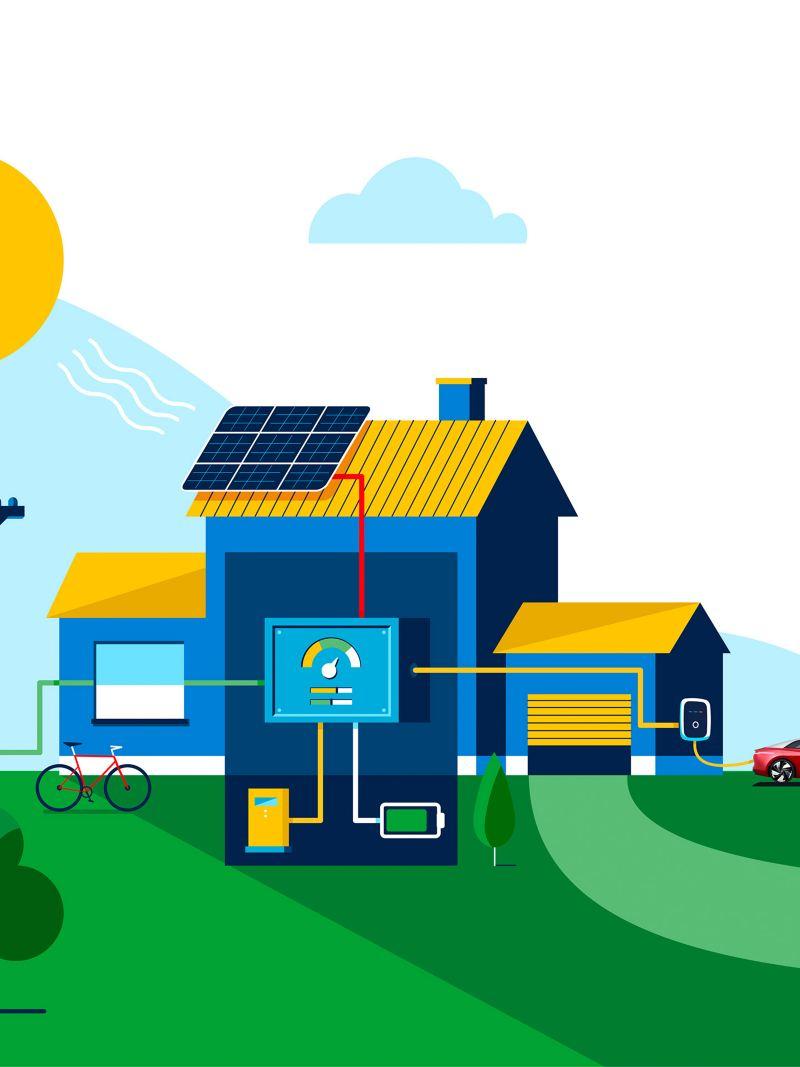 Minh họa Điện di động và hệ thống quản lý năng lượng thông minh