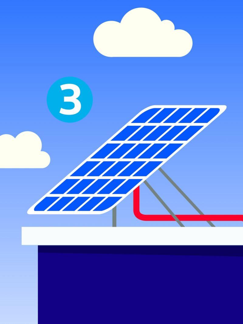 Illustration d'une installation photovoltaïque