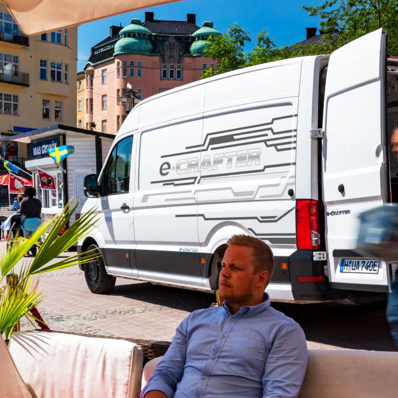 Nya Volkswagen e-Crafter - 100 % eldriven - på stadstur