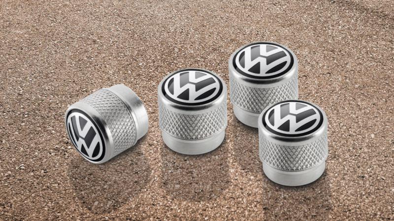 Volkswagen Genuine Valve Caps With Volkswagen Logo