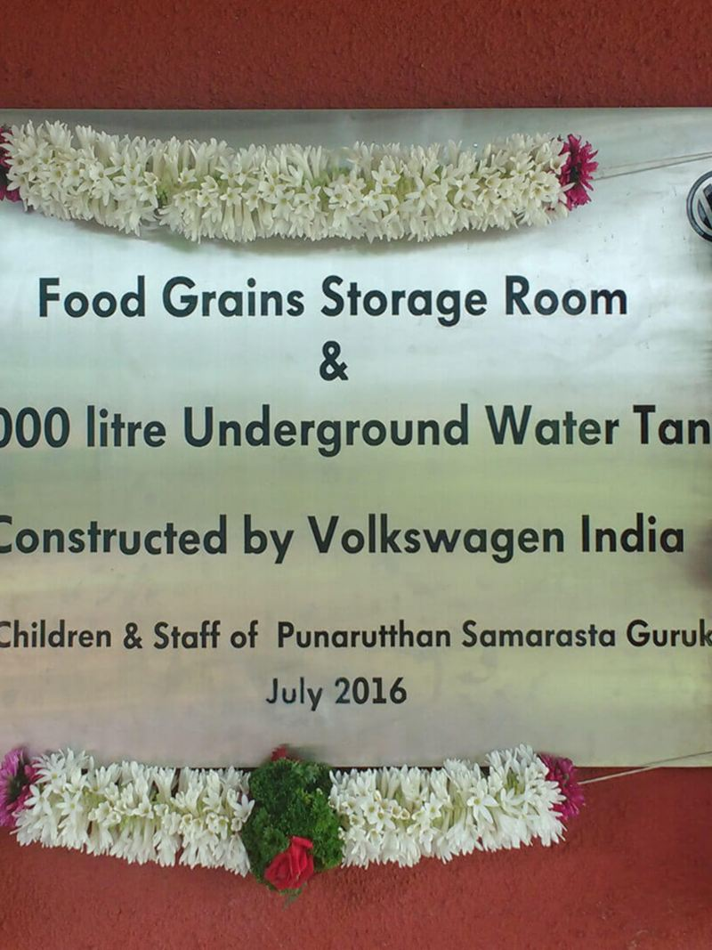Volkswagen India Water Tank and Food Grains Storage Room