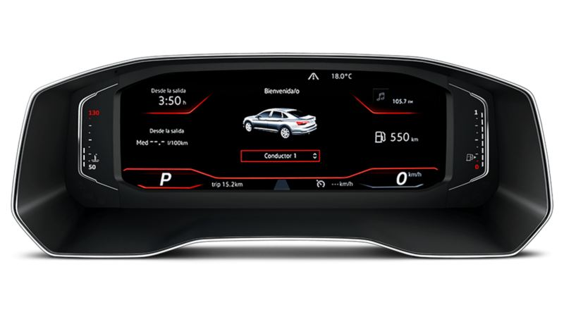 Digital cockpit totalmente configurable del Jetta GLI 2020 de Volkswagen