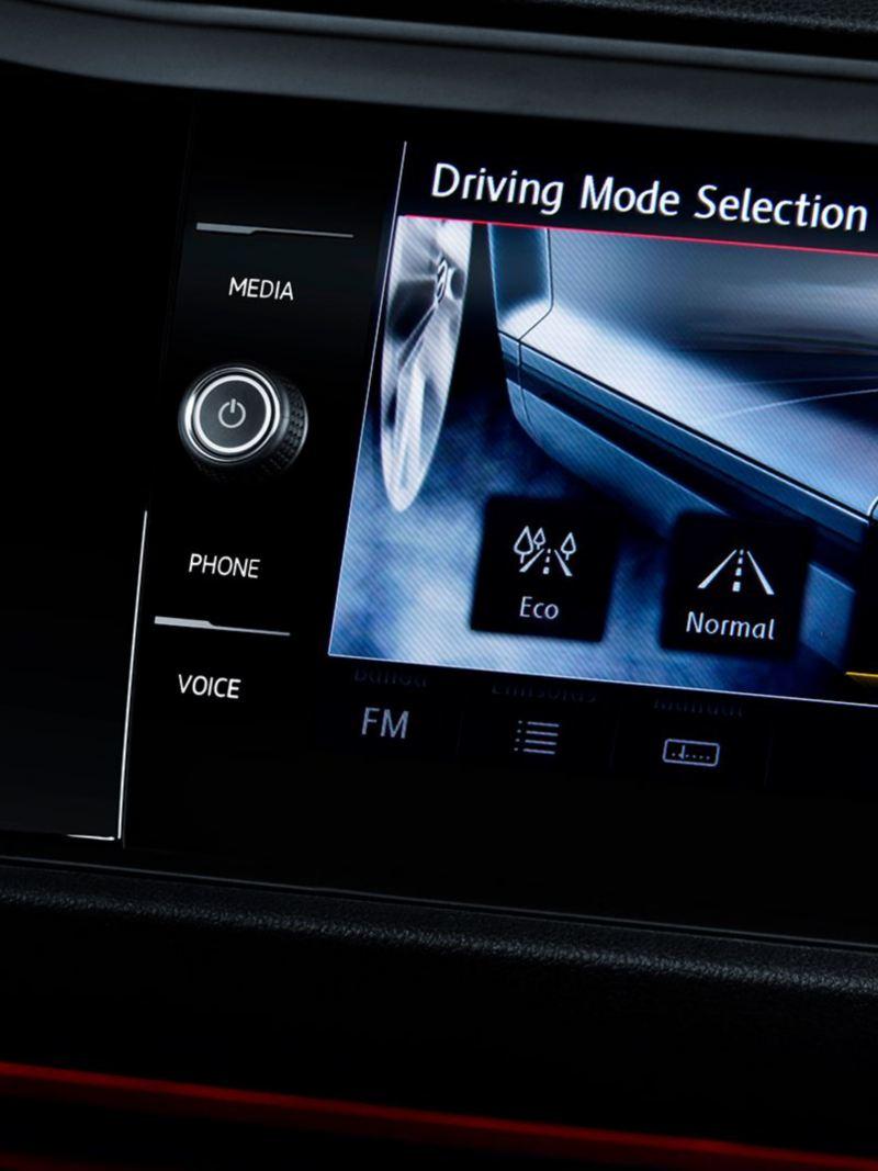 Selector de modo de conducción del Jetta GLI 2021 de Volkswagen