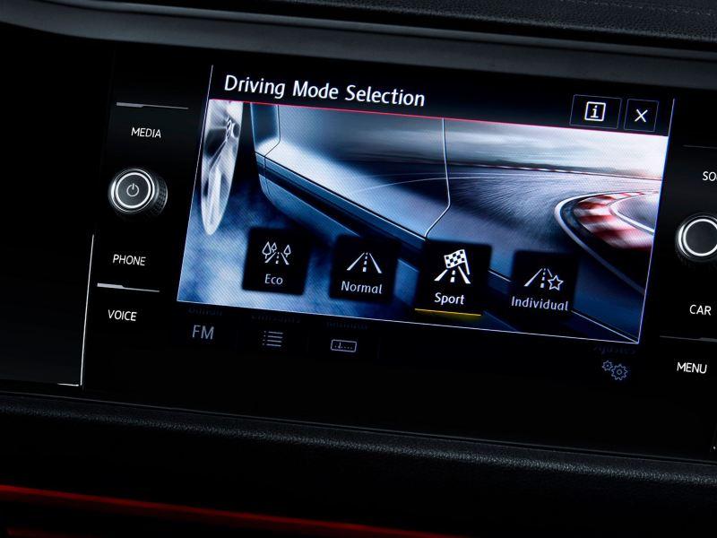 Selector de modo de conducción del Jetta GLI 2020 de Volkswagen
