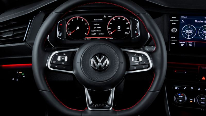 Volante con paletas de cambio del Jetta GLI 2020 de Volkswagen
