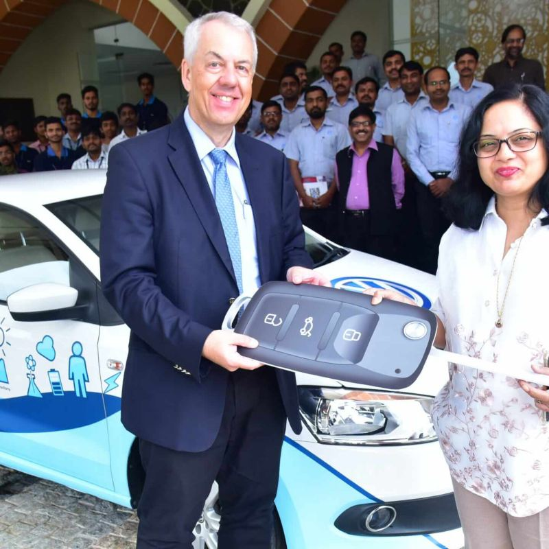 Volkswagen Donates Vento to Symbiosis Skills and Open University