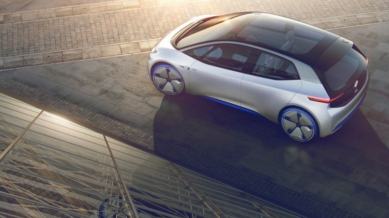 View on a Volkswagen ID. from above the car