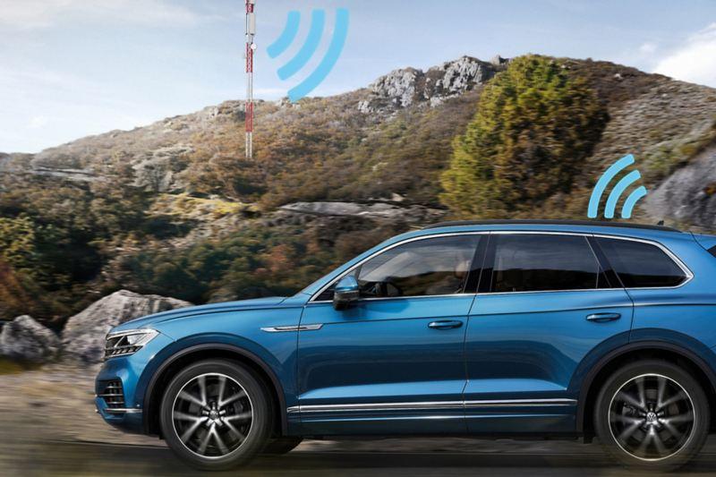VW Touareg com eSim