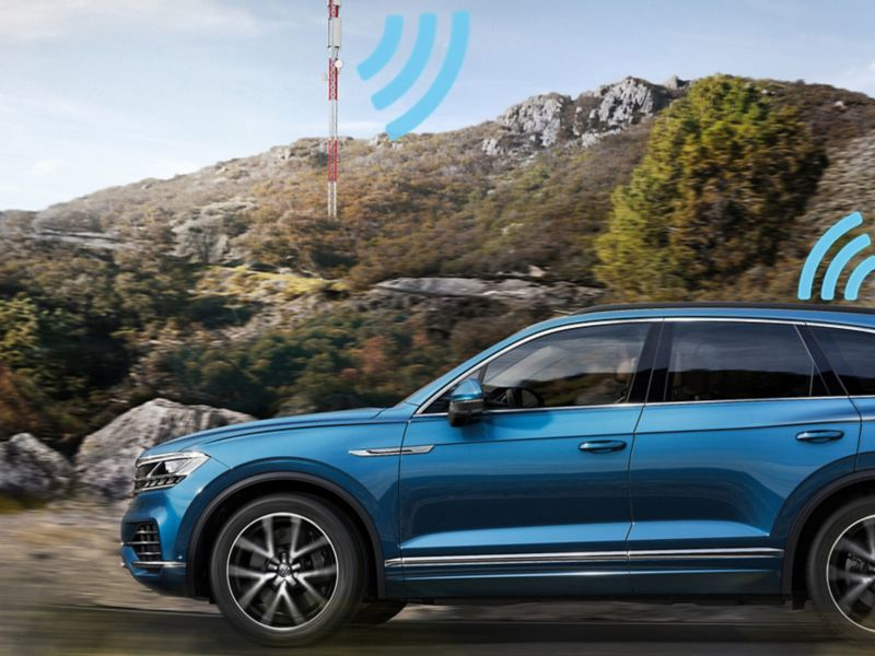 VW Touareg with eSIM