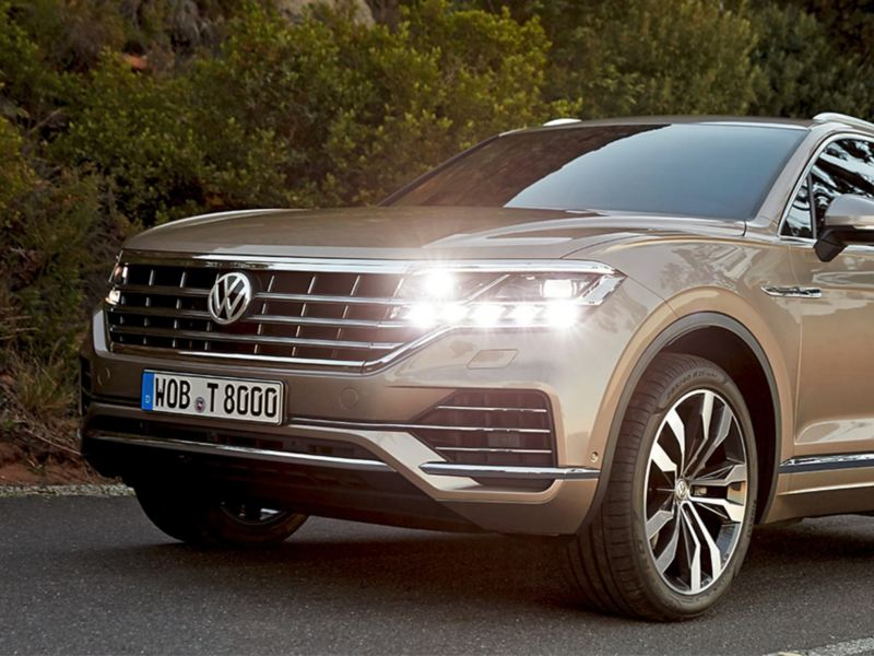 VW Touareg driving shot