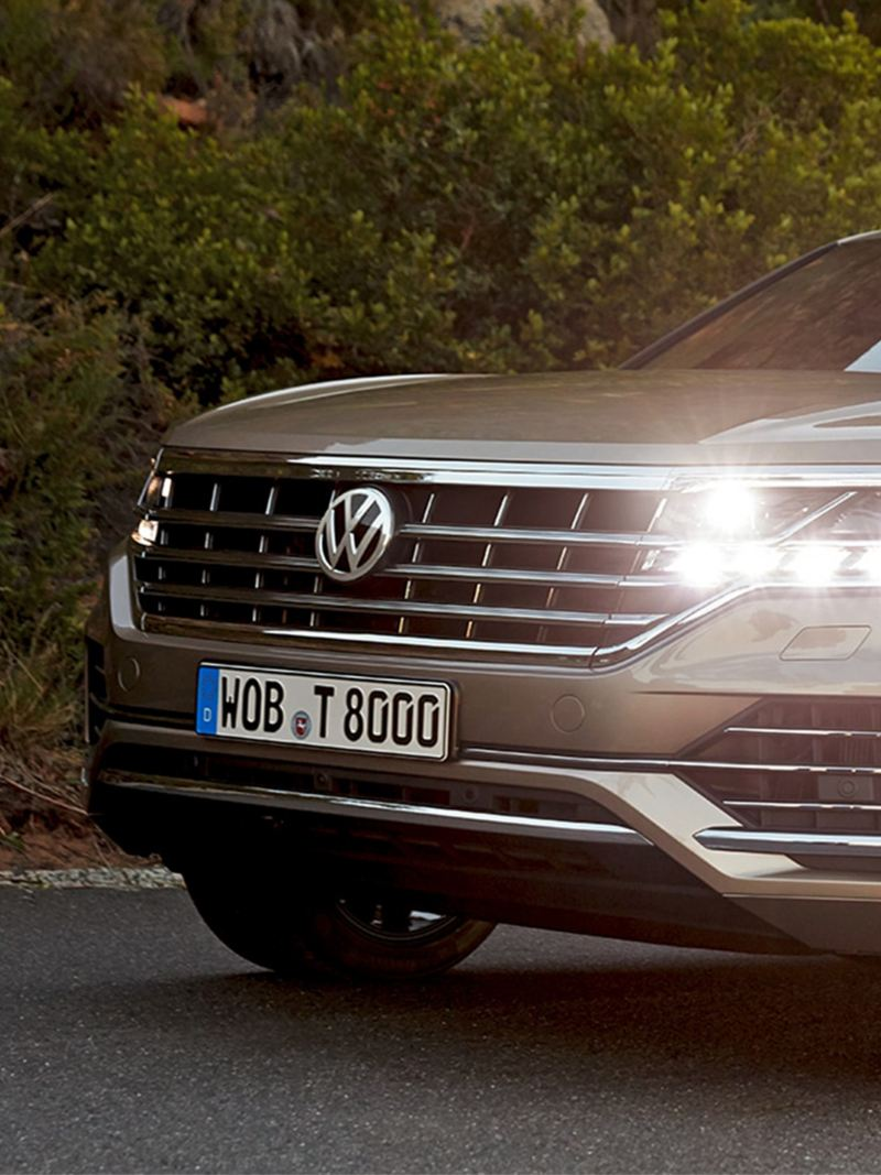 VW Touareg under kørslen